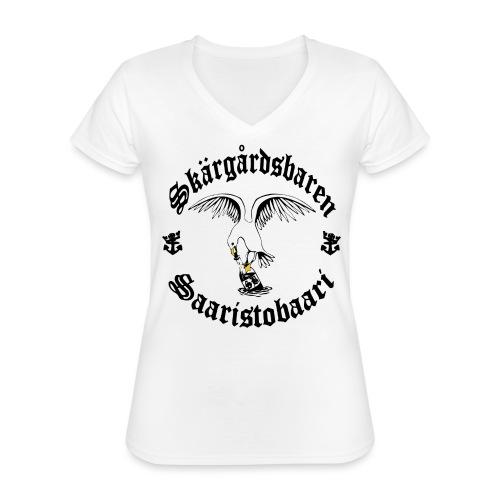 Black logo - Klassinen naisten t-paita v-pääntiellä