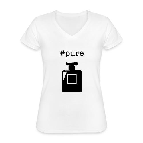 PURE - Klassisches Frauen-T-Shirt mit V-Ausschnitt