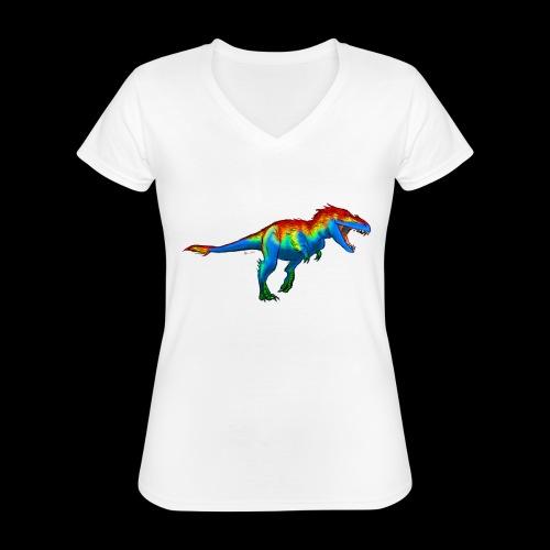 T-Rex - Classic Women's V-Neck T-Shirt