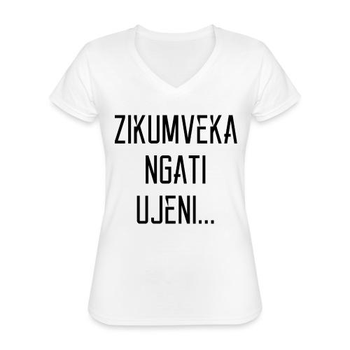Zikumveka Ngati Black - Classic Women's V-Neck T-Shirt