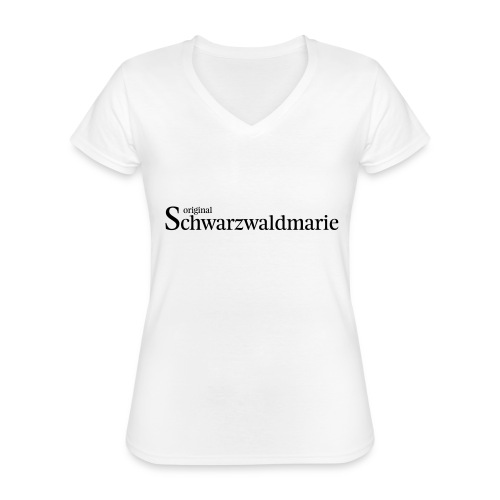Schwarzwaldmarie - Klassisches Frauen-T-Shirt mit V-Ausschnitt