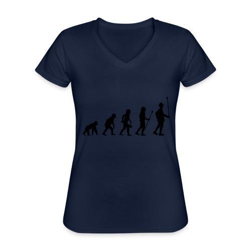 Stabführer Evolution - Klassisches Frauen-T-Shirt mit V-Ausschnitt