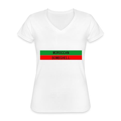 Moroccan Bombshell - Klassisches Frauen-T-Shirt mit V-Ausschnitt