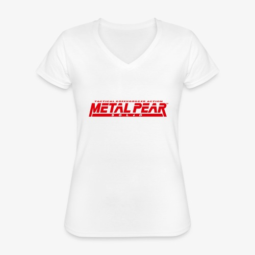 Metal Pear Solid: Tactical Greengrocer Action - Classic Women's V-Neck T-Shirt