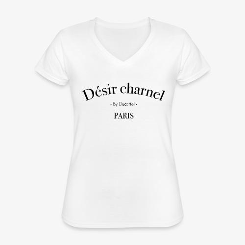 Désir charnel - T-shirt classique col V Femme