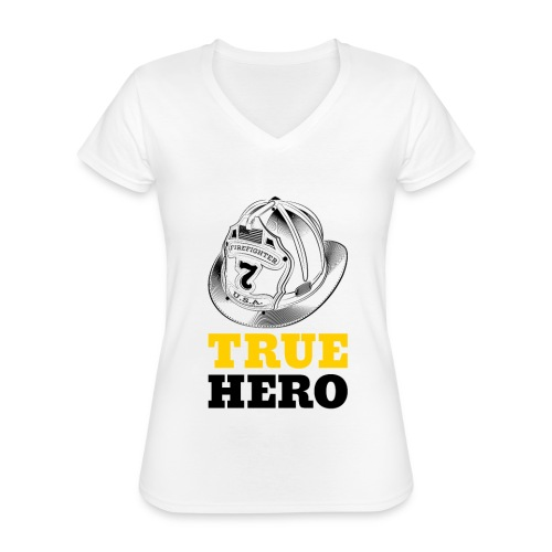 True Hero - Klassisches Frauen-T-Shirt mit V-Ausschnitt