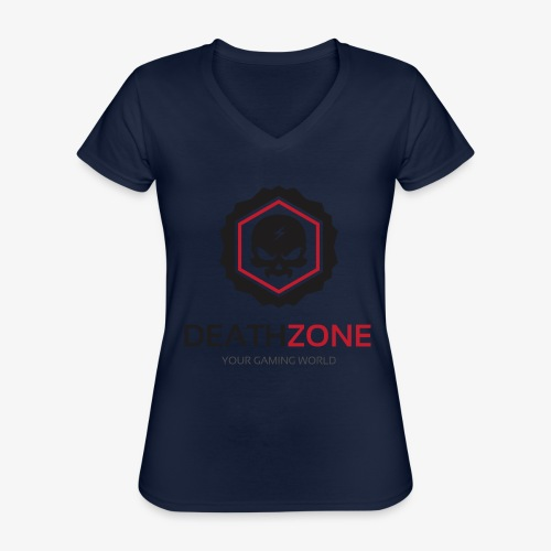 DeathZone Logo Avatar - Klasyczna koszulka damska z dekoltem w serek