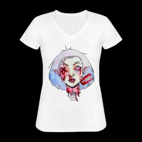 Violence - T-shirt classique col V Femme