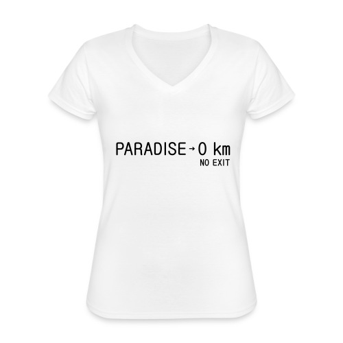 paradise0km - Klassisches Frauen-T-Shirt mit V-Ausschnitt
