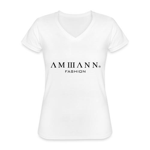 AMMANN Fashion - Klassisches Frauen-T-Shirt mit V-Ausschnitt