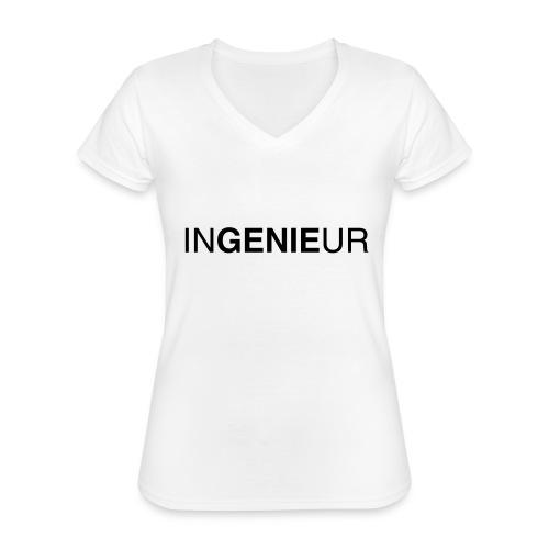 ingenieur 01 - Klassisches Frauen-T-Shirt mit V-Ausschnitt