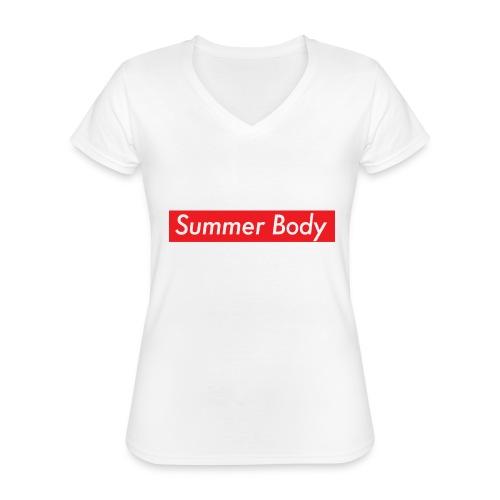 Summer Body - T-shirt classique col V Femme