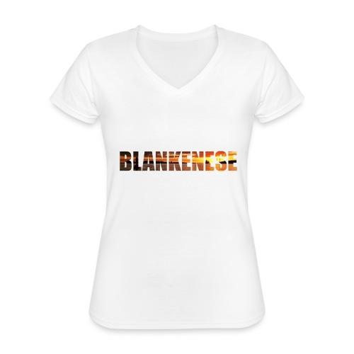 Blankenese Hamburg - Klassisches Frauen-T-Shirt mit V-Ausschnitt