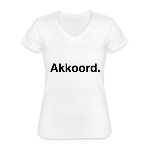 Akkoord - Klassiek vrouwen T-shirt met V-hals