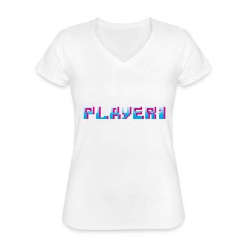 Arcade Game - Player 1 - Classic Women's V-Neck T-Shirt