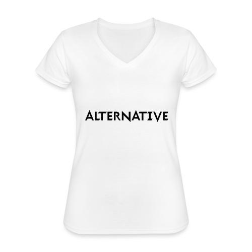 Im Hoodie White - Klasyczna koszulka damska z dekoltem w serek