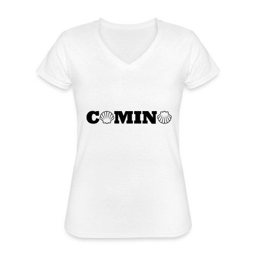 Camino - Klassisk dame T-shirt med V-udskæring