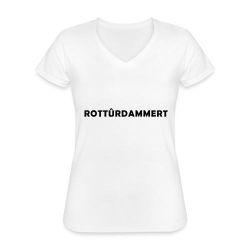 Rotturdammert - Klassiek vrouwen T-shirt met V-hals