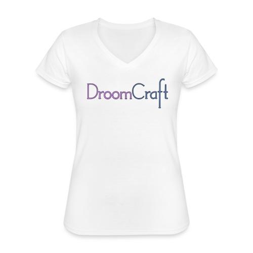 DroomCraft - Klassiek vrouwen T-shirt met V-hals