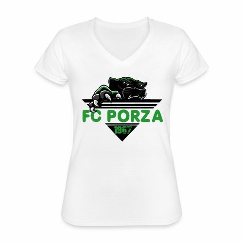 FC Porza 1 - Klassisches Frauen-T-Shirt mit V-Ausschnitt