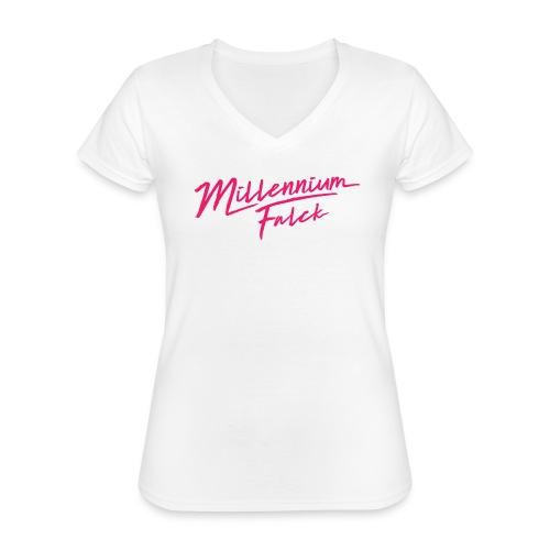 Millennium Falck - 2080's collection - Classic Women's V-Neck T-Shirt