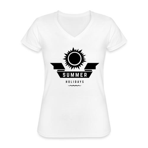 Summer holidays - Klassinen naisten t-paita v-pääntiellä