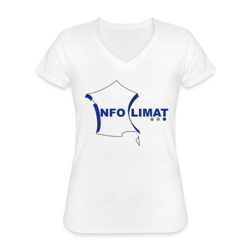 logo simplifié - T-shirt classique col V Femme