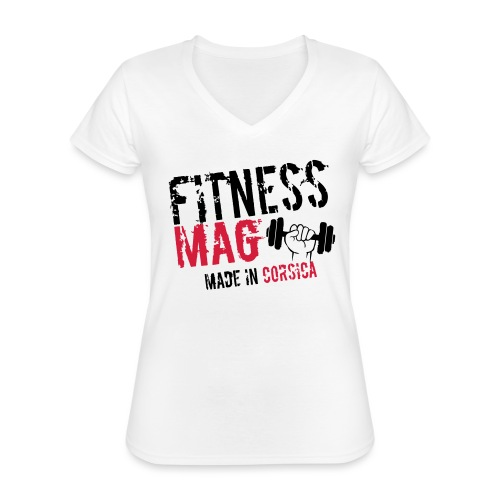 Fitness Mag made in corsica 100% Polyester - T-shirt classique col V Femme