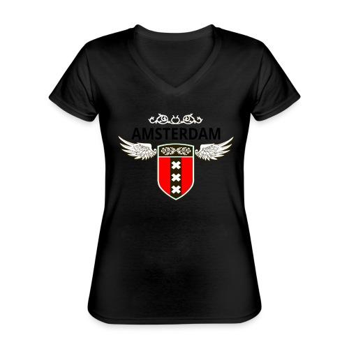 Amsterdam Netherlands - Klassisches Frauen-T-Shirt mit V-Ausschnitt