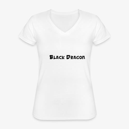 Black Dragon 2 - Klassisches Frauen-T-Shirt mit V-Ausschnitt