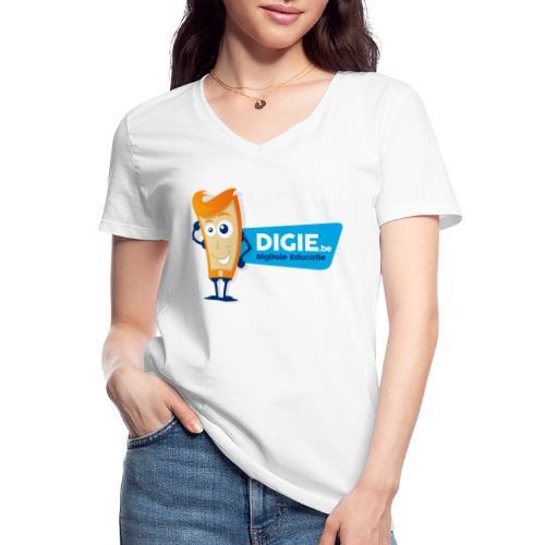 Digie.be - Klassiek vrouwen T-shirt met V-hals