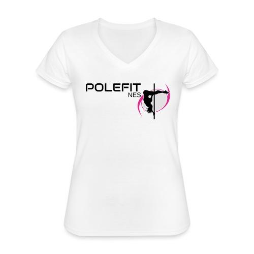 Pole-Fit-NES - Klassisches Frauen-T-Shirt mit V-Ausschnitt