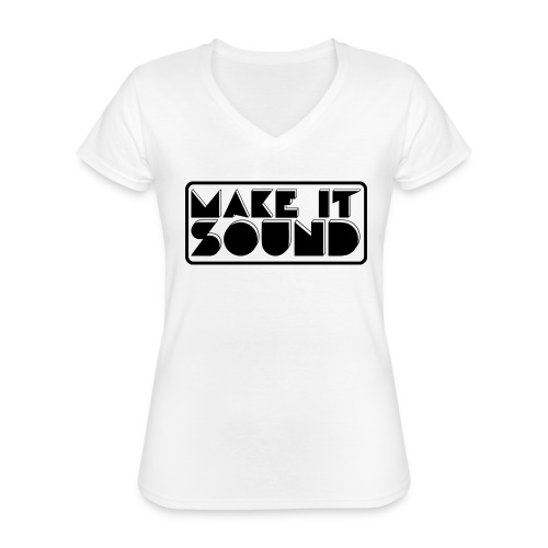 MAKE IT SOUND UMEÅ - Klassisk T-shirt med V-ringning dam