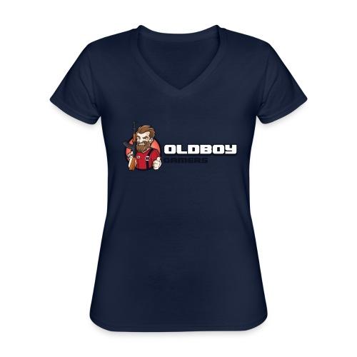 Oldboy Gamers Fanshirt - Klassisk T-skjorte med V-hals for kvinner
