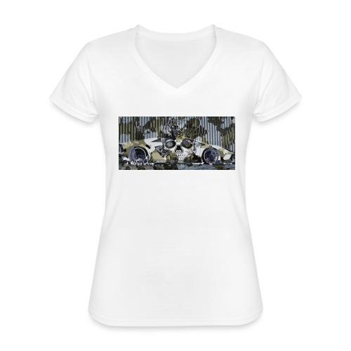 calavera style - Classic Women's V-Neck T-Shirt
