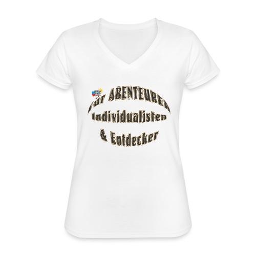Abenteurer Individualisten & Entdecker - Klassisches Frauen-T-Shirt mit V-Ausschnitt