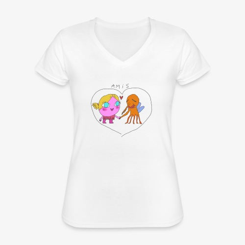 les meilleurs amis - T-shirt classique col V Femme