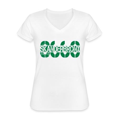 SKANDERBRONX - Klassisk dame T-shirt med V-udskæring
