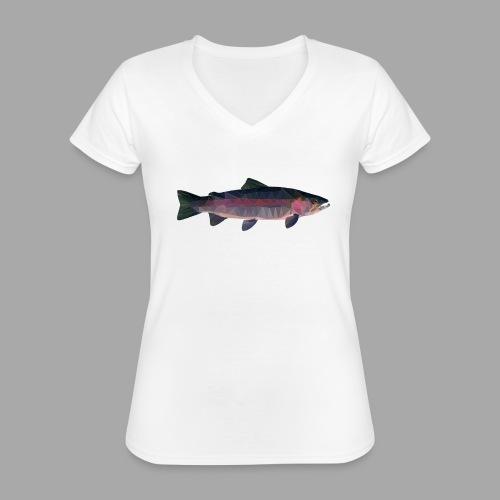 Trout - Klassinen naisten t-paita v-pääntiellä