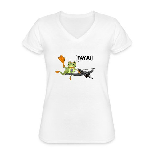 Amazing Frog Crossbow - Classic Women's V-Neck T-Shirt