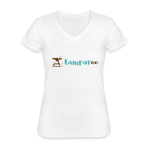 Tamparoo - Maglietta da donna classica con scollo a V