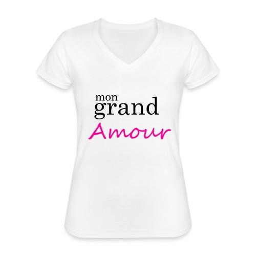 Mon grand amour - T-shirt classique col V Femme