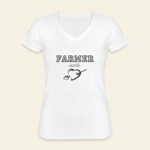 Hearth farmer - Maglietta da donna classica con scollo a V