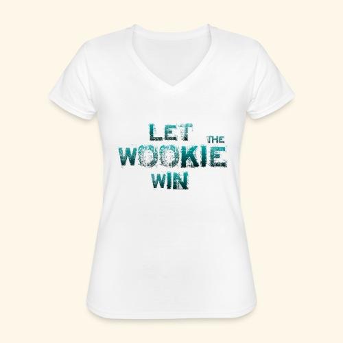 Let The Wookie Win, design 2. - Klassisk dame T-shirt med V-udskæring