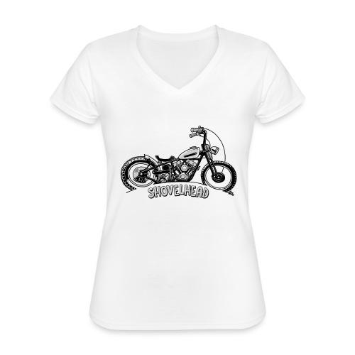 0917 chopper shovelhead - Klassiek vrouwen T-shirt met V-hals