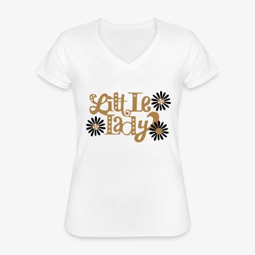 large_little-lady - T-shirt classique col V Femme