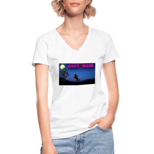 nightrider merch - Klassisk dame T-shirt med V-udskæring