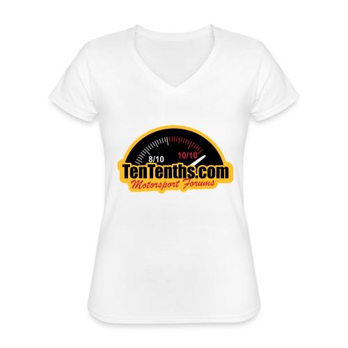 3Colour_Logo - Classic Women's V-Neck T-Shirt