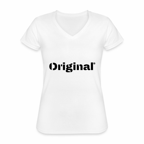 Original, by 4everDanu - Klassisches Frauen-T-Shirt mit V-Ausschnitt