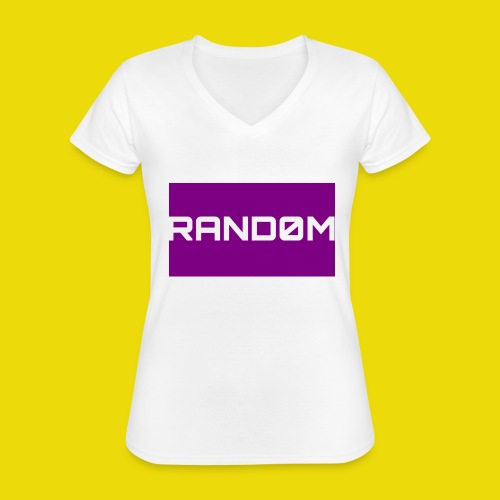 Random Logo - Classic Women's V-Neck T-Shirt
